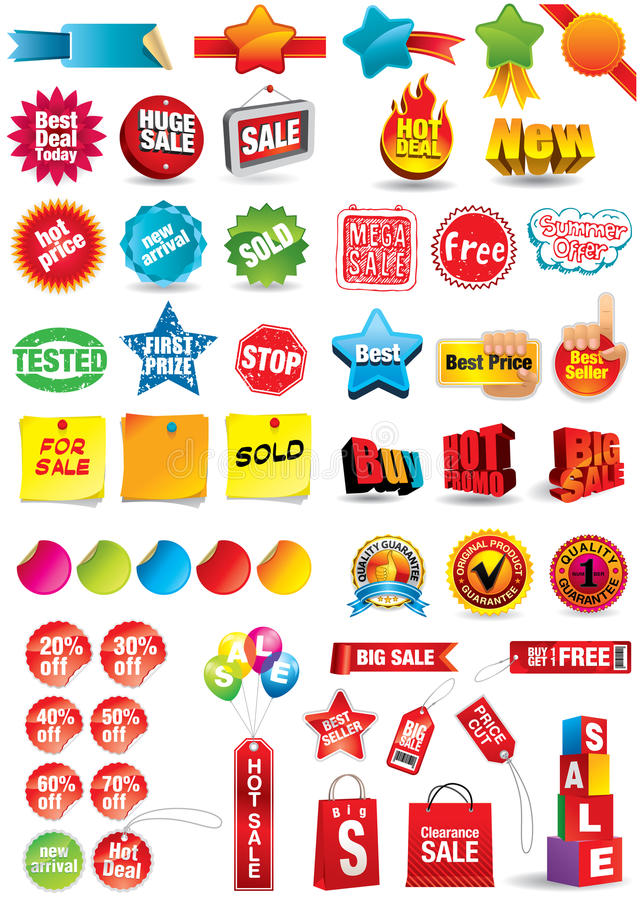 Download Sale and discount tags stock vector. Illustration of bill - 16485481