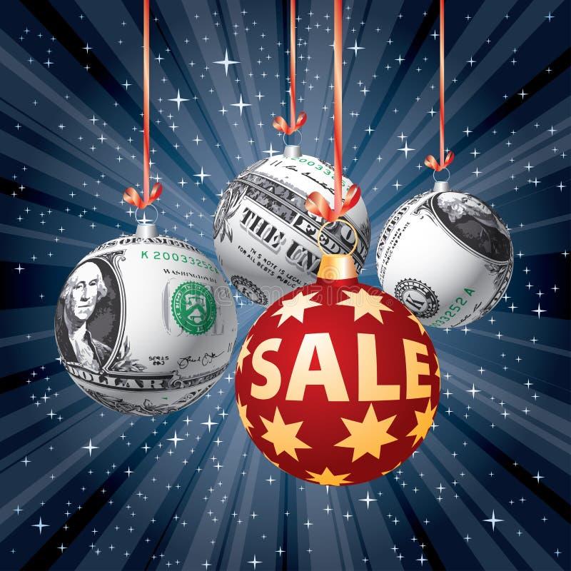 Sale dollar balls vector illustration