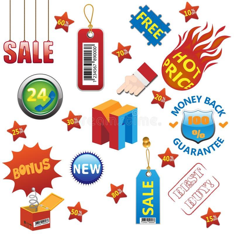 Download Sale elements set stock vector. Illustration of quality - 19180972
