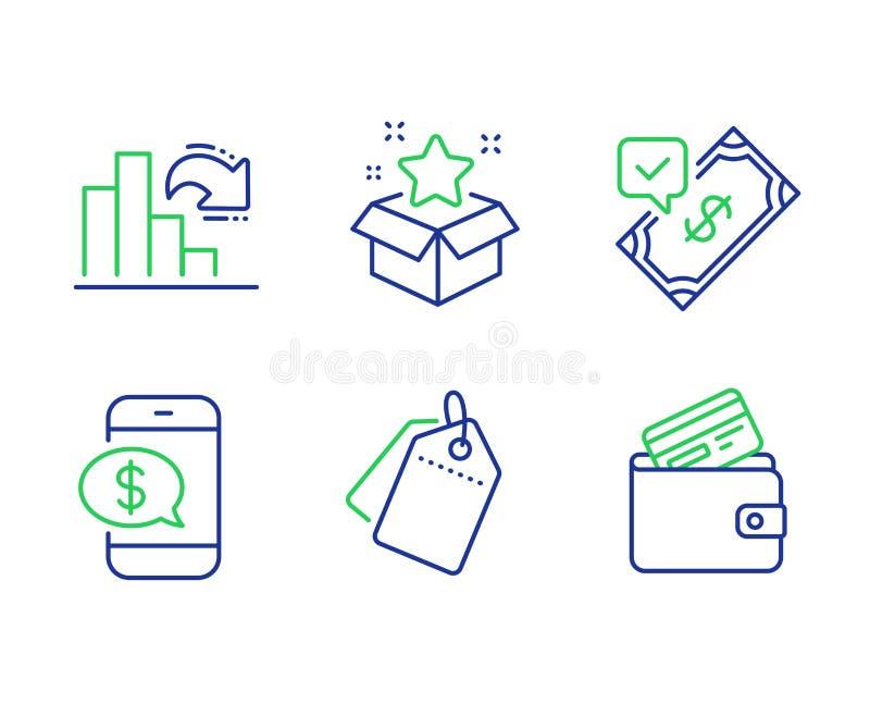 Sale etiketter, accepterad betalning och uppsättning för lojalitetprogramsymboler vektor stock illustrationer