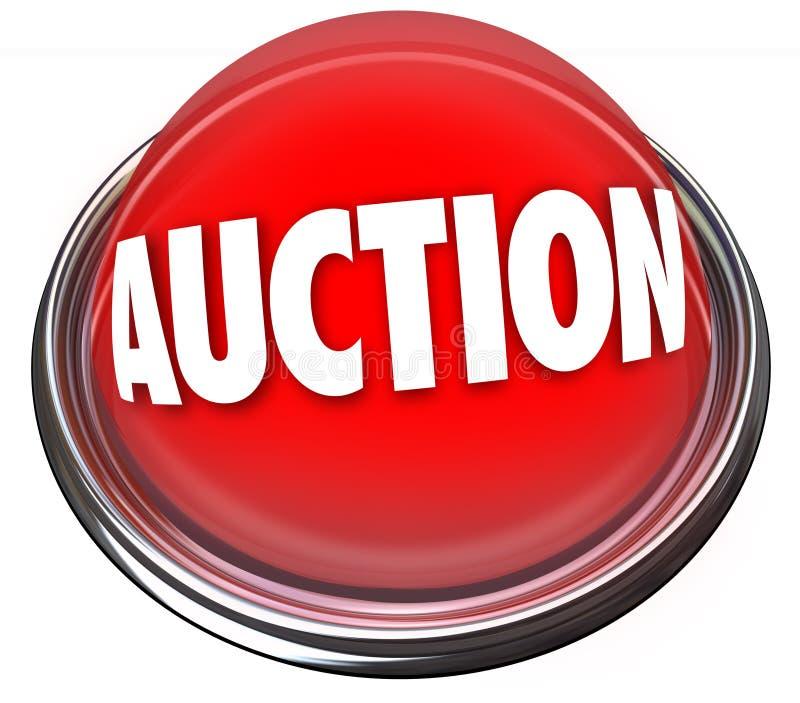 Sale för objekt för blinkande ljus för auktionknapp högst spekulant