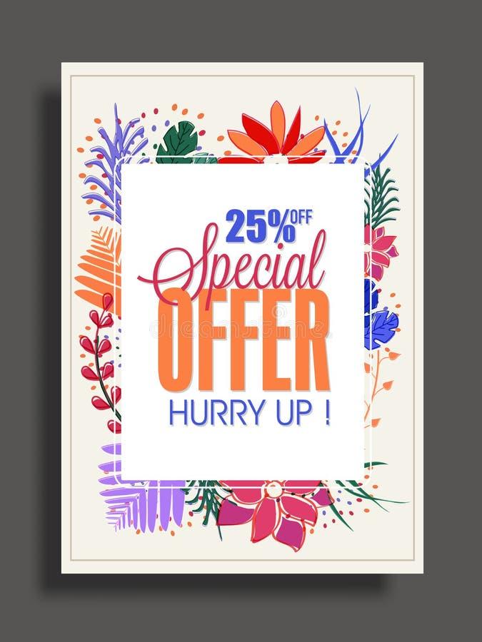 Sale för specialt erbjudande affisch, baner eller reklamblad vektor illustrationer