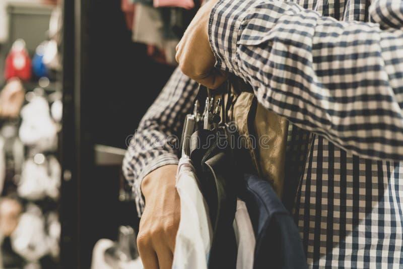 Sale fashion shopping clothes store concept with a vintage tones. Sale fashion shopping clothes store concept with vintage tone royalty free stock images