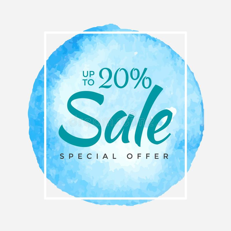 Sale final up to 20 off sign over art brush acrylic stroke paint abstract texture background poster vector illustration stock illustration