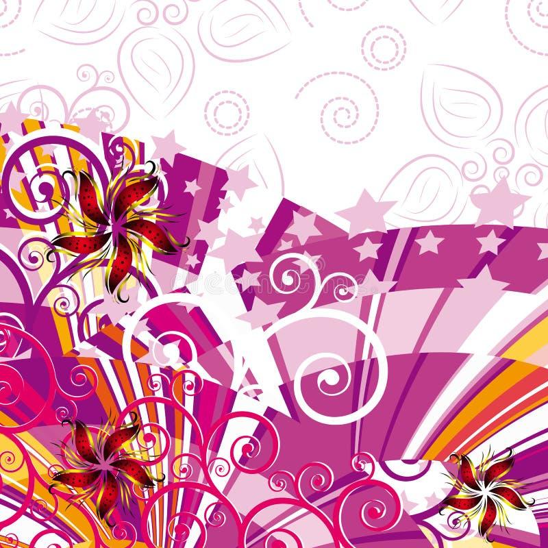 Sale floral background royalty free illustration