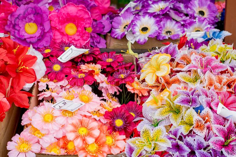 Sale Of Flower Bouquets With Price Tags Close-up Stock Image - Image ...