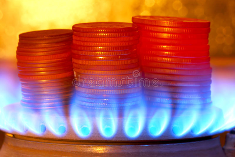 The sale of gas. stock photography