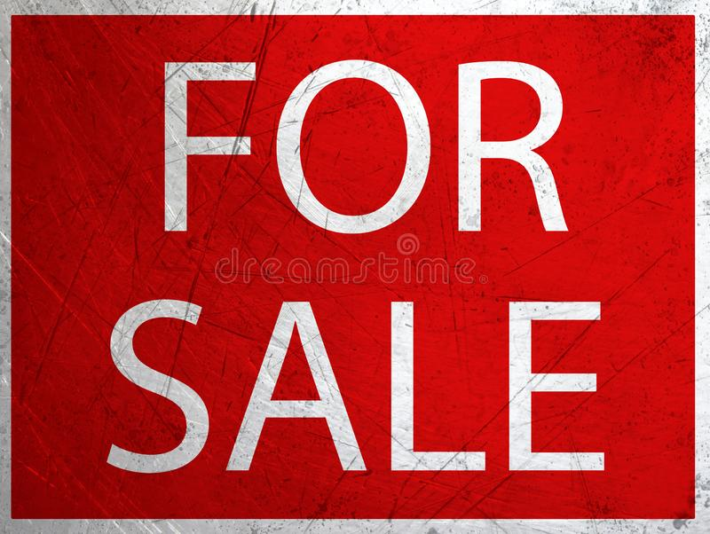 \'FOR SALE\' grunge metal sign royalty free stock image