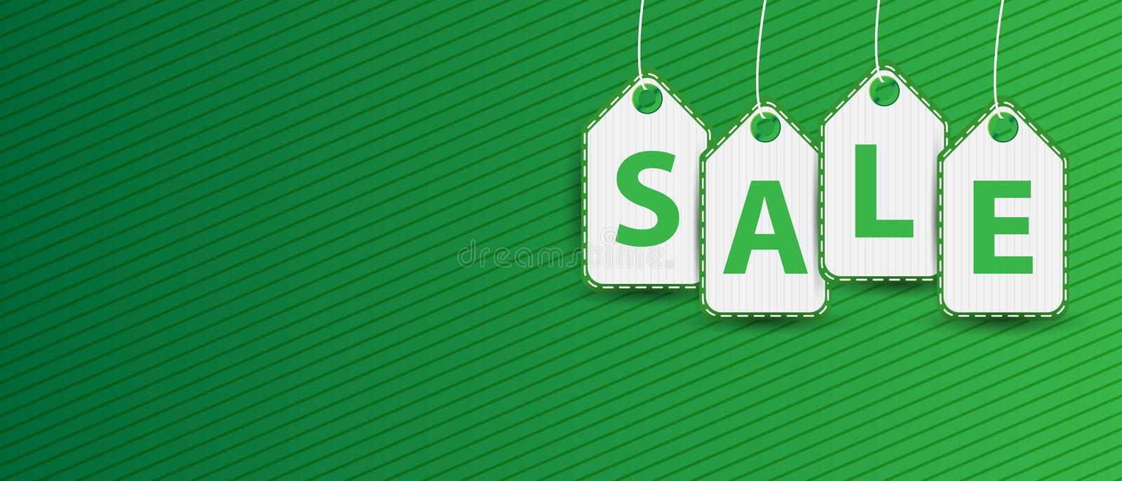 Sale hanging price tag pictogram icon royalty free illustration