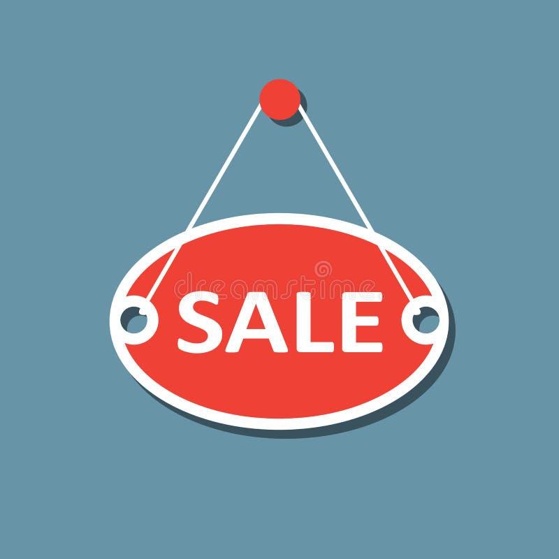 Sale hanging sign. Flat design. royalty free illustration