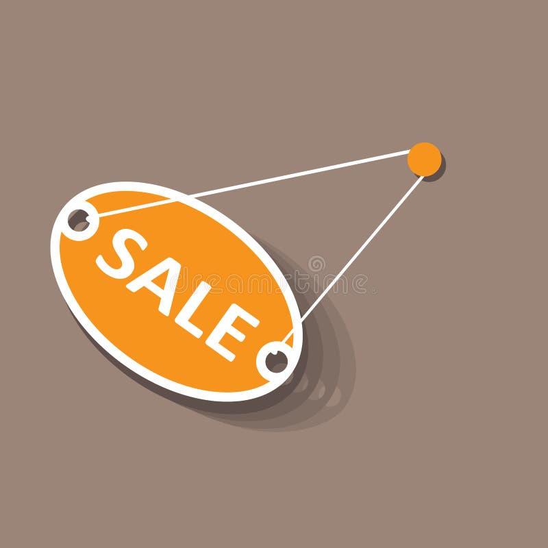 Sale hanging sign. Flat design. vector illustration
