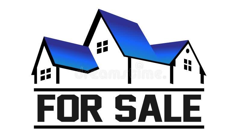 For Sale House logo stock illustration