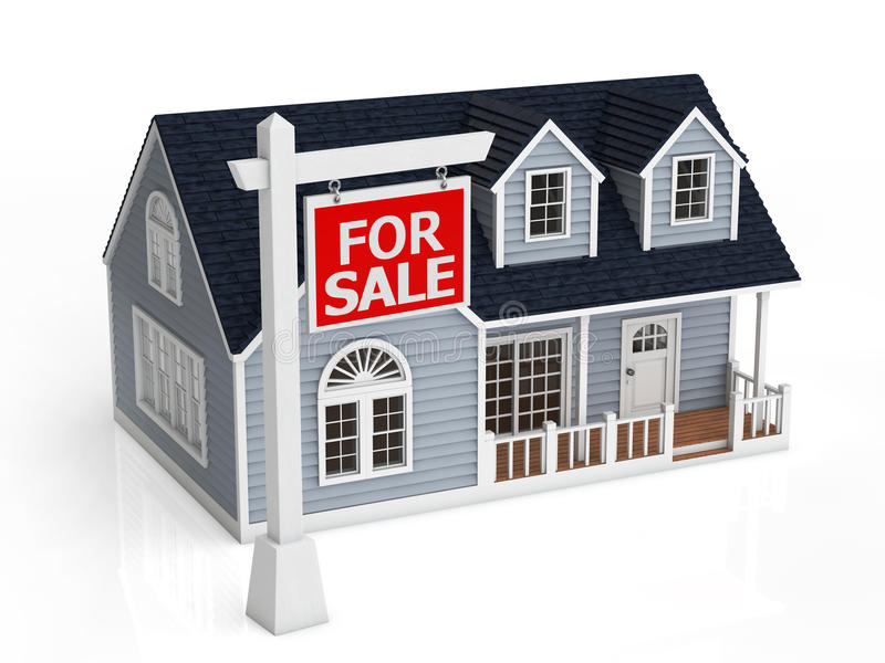 Sale of house royalty free illustration