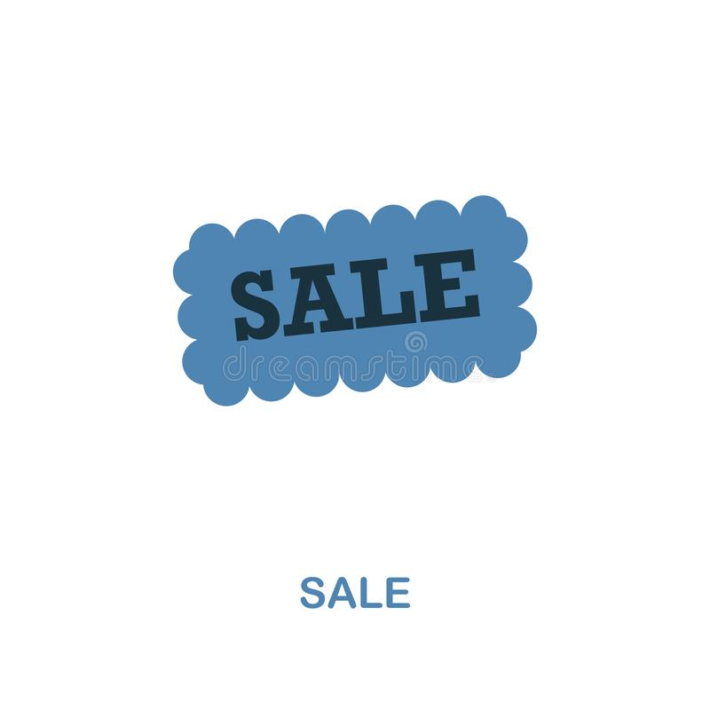 Sale icon. Monochrome style design from shopping center sign icon collection. UI. Pixel perfect simple pictogram sale royalty free illustration