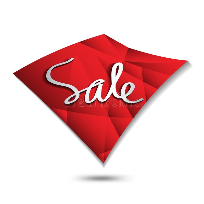 Sale icon, Square polygon vector, sticker, label, buttons, tags, promotion banner, marketing stock illustration