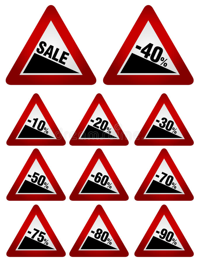 Download Sale Icons stock vector. Image of reduction, reduce, traffic - 23502546