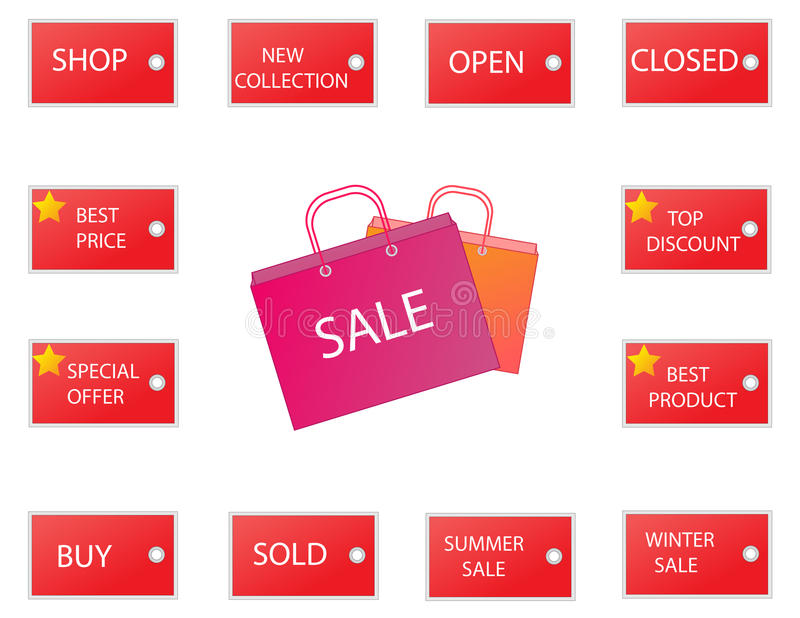 Download Sale icons 2 stock illustration. Image of buying, collection - 30583730