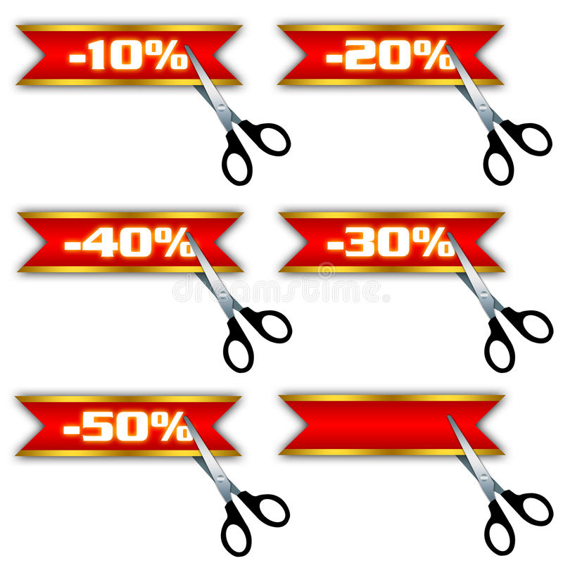 Sale icons, special offer, discount stock illustration