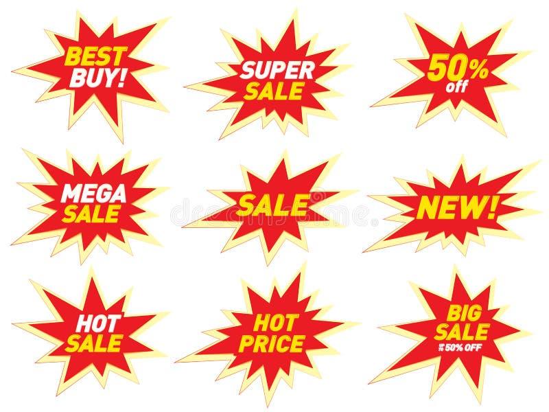 Download Sale Label Price Tag Banner Star Badge Template Sticker Design. Stock Vector - Illustration of explosion, sale: 87814897