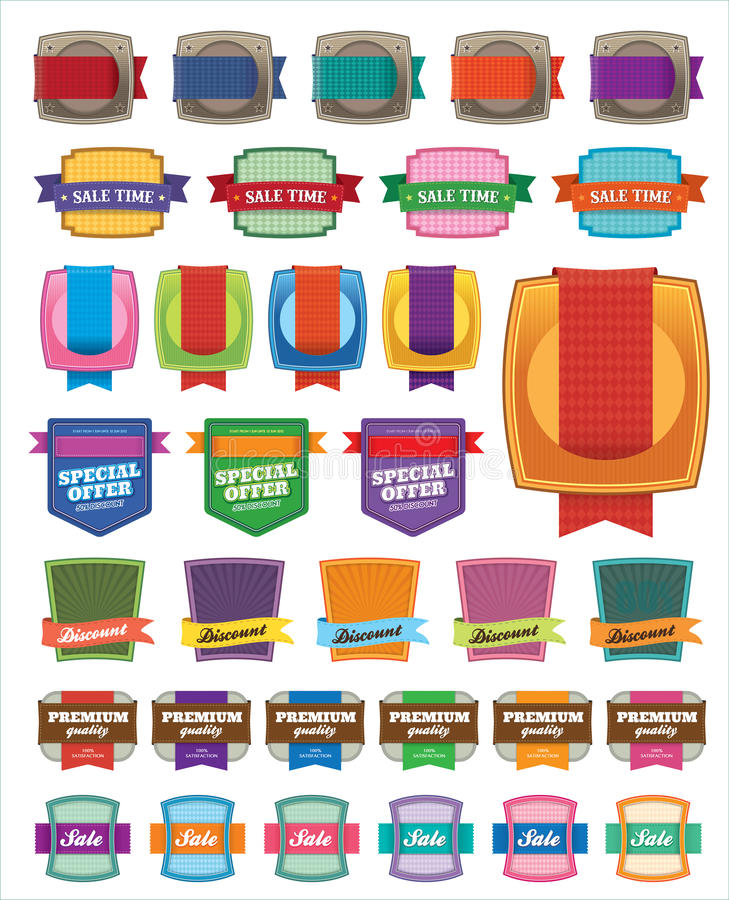 Download Sale Labels stock vector. Image of offer, promo, business - 25686844