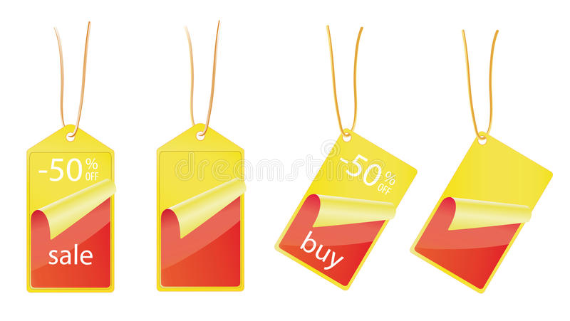 Sale labels - 50% OFF royalty free stock photo