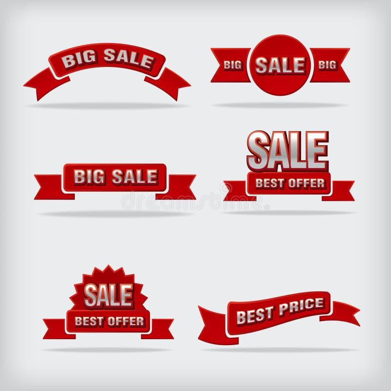 Sale labels vector illustration
