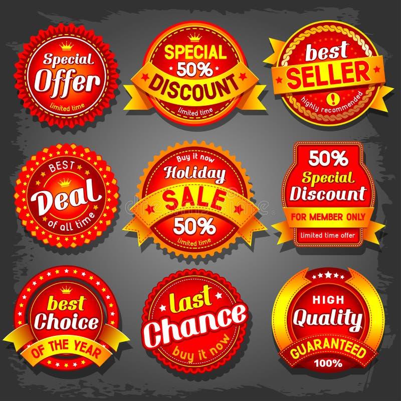Sale labels. Set of luxury vector sale labels