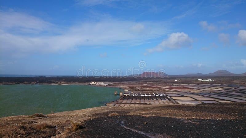 Sale Lanzarote fotografia stock