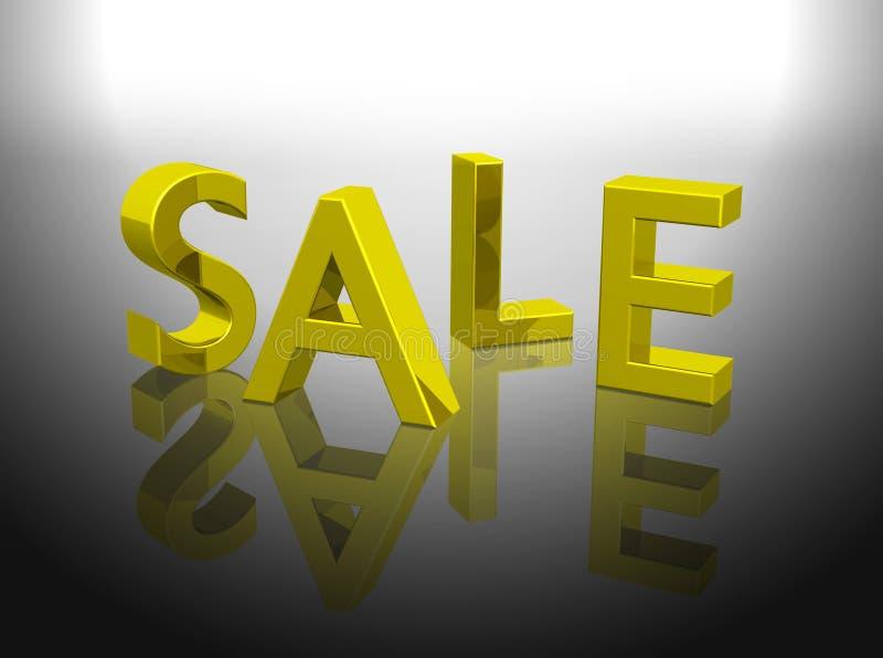 Download Golden Sale Word Shiny Letters Stock Illustration - Image: 5445878