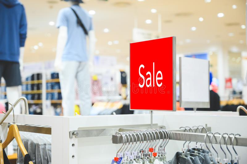 Sale mock up advertise display at clothes line. Mock up advertise display at clothes line royalty free stock images