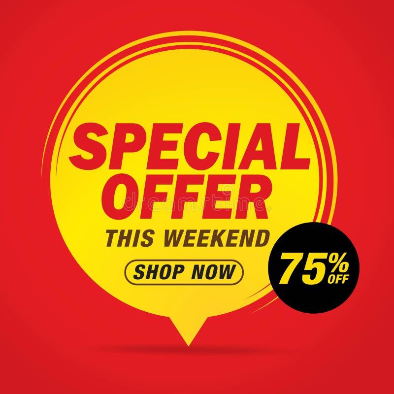 Sale och etiketten för specialt erbjudande, prislappar, försäljningar märker, vektorillustrationen vektor illustrationer