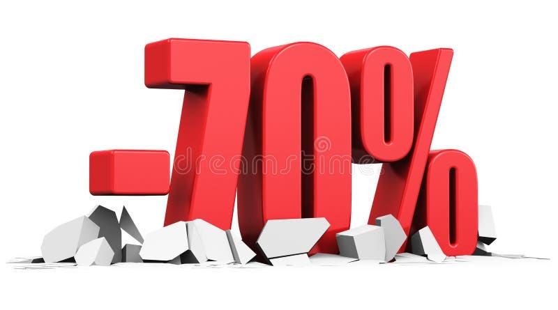 Sale och rabattannonseringbegrepp stock illustrationer