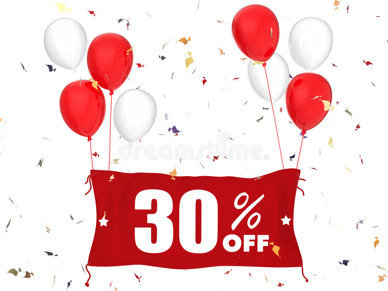 30% sale off banner royalty free stock photography