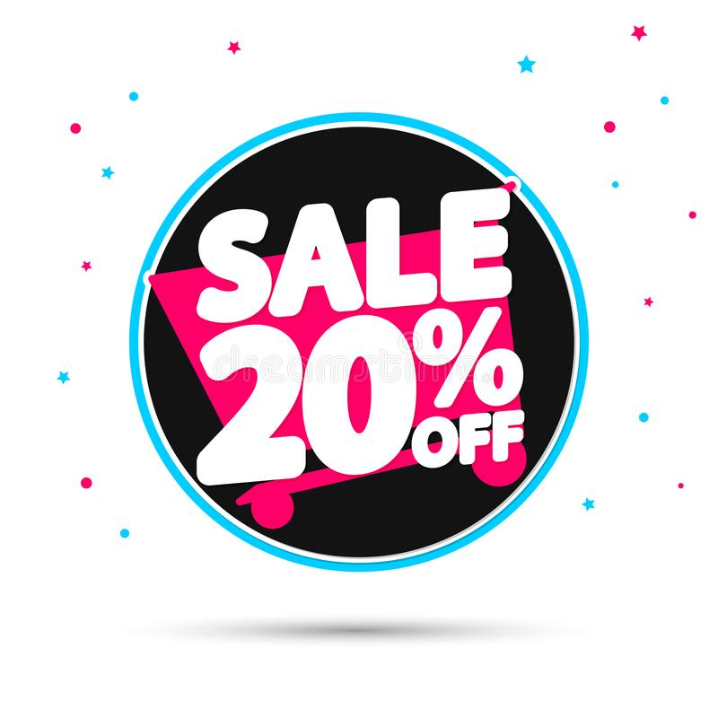 Sale 20% off, discount banner design template, extra promo tag, vector illustration vector illustration