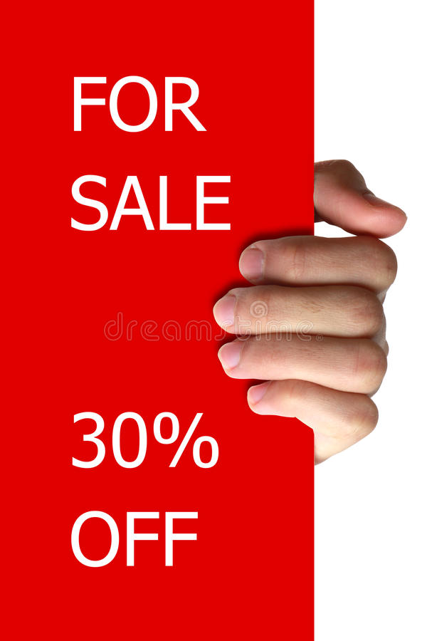 Download For Sale Off stock photo. Image of sell, board, hand - 36013732