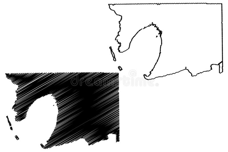 Sale okr?g administracyjny, Teksas okr?gi administracyjni w Teksas, Stany Zjednoczone Ameryka, usa, U S , USA mapy wektorowa ilus royalty ilustracja