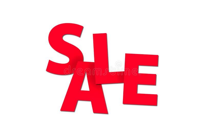 Sale ord med röda bokstäver som fokuserar på att konsumera stock illustrationer