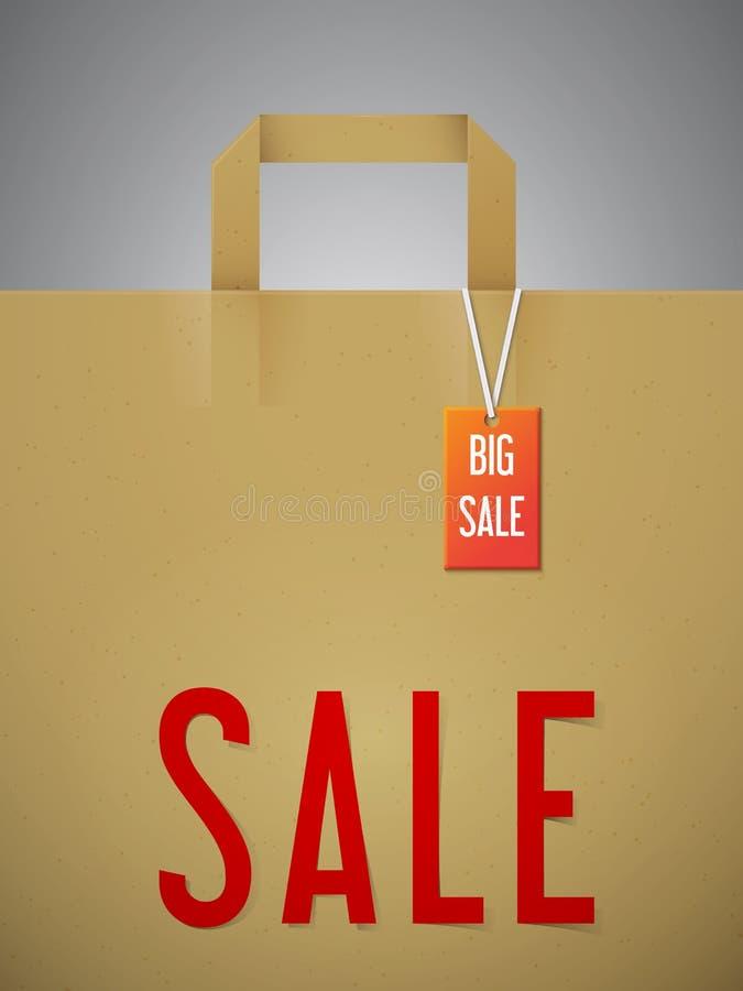 Sale pappers- påse royaltyfri illustrationer