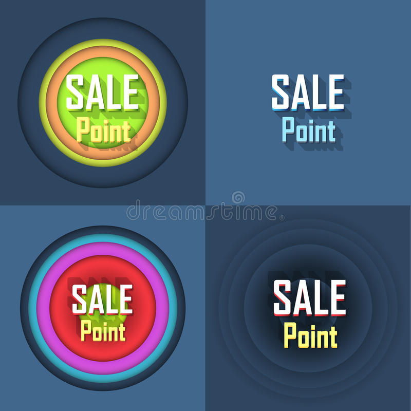 Sale Point Button Icon Stock Photo