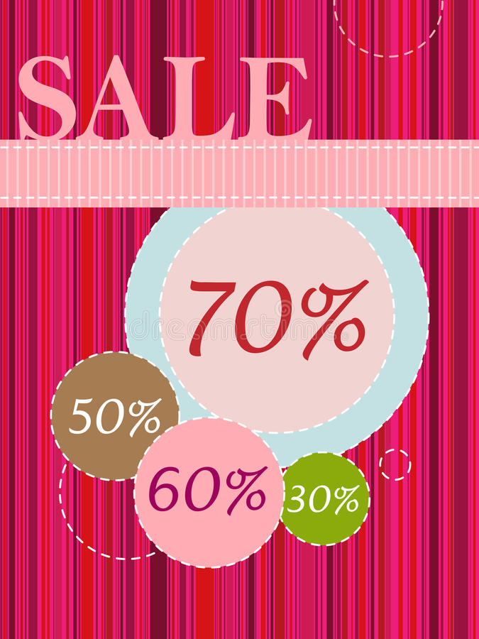 Sale poster. Raster version of sale poster or banner. There is in addition a format (EPS 8 royalty free illustration