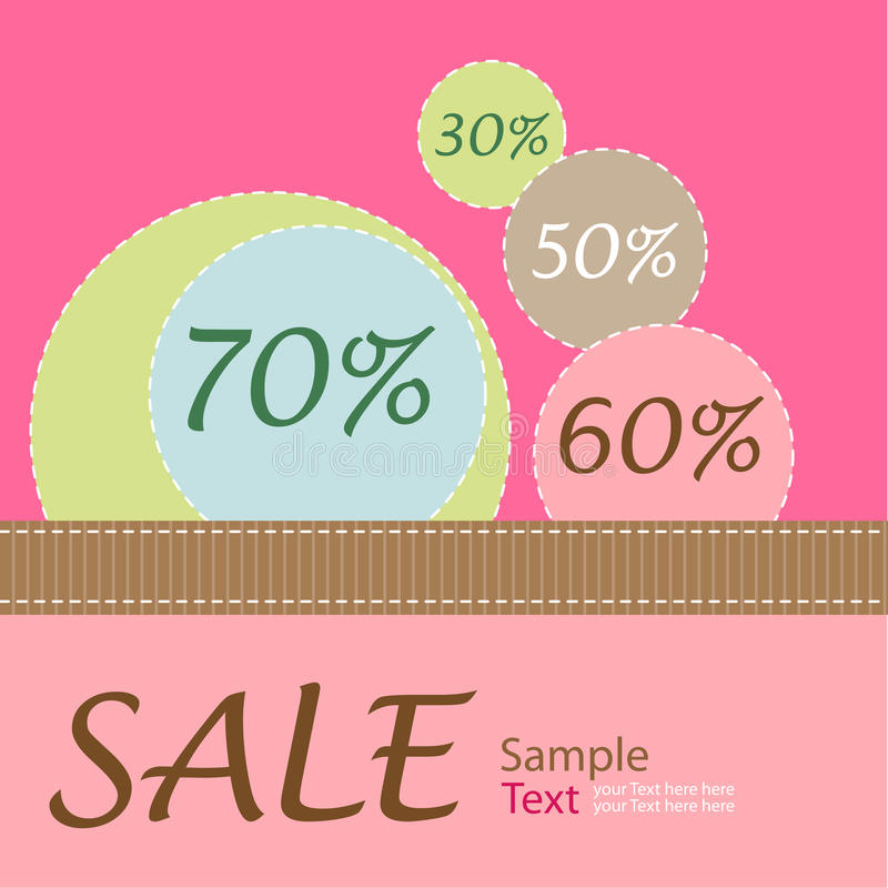 Sale poster. Vector sale poster or banner for seasonal sales. There is in addition a format (EPS 8 vector illustration
