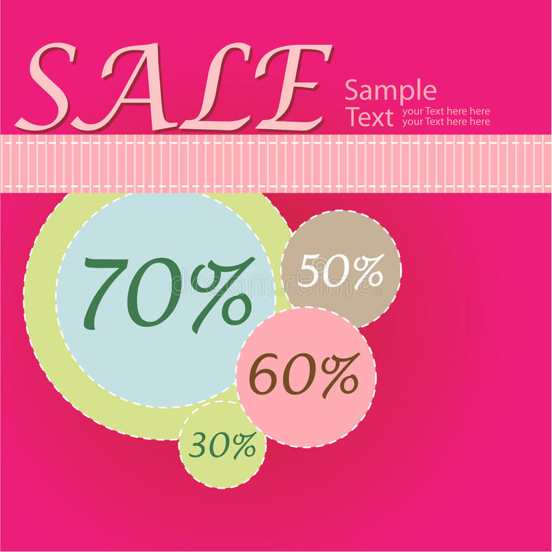 Download Sale poster stock vector. Image of abstract, easter, background - 13136623