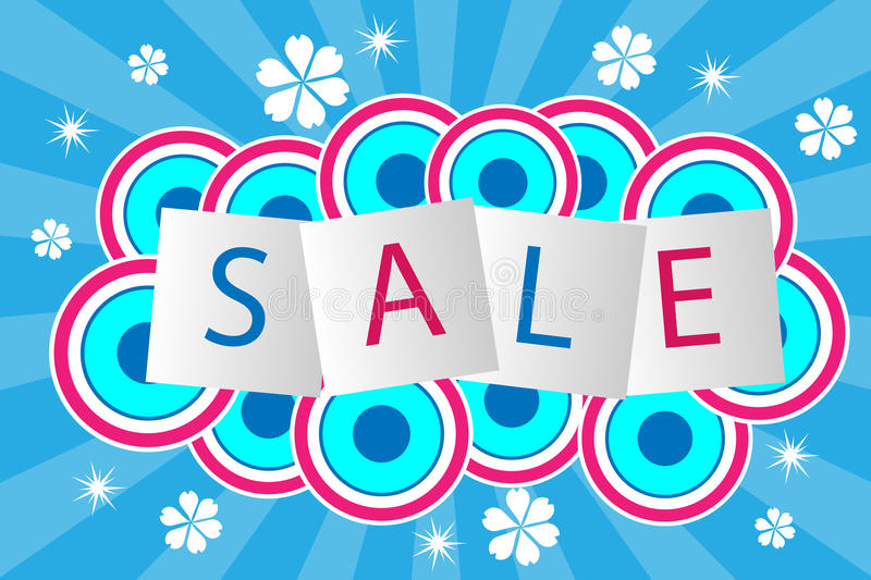 Sale poster vector illustration