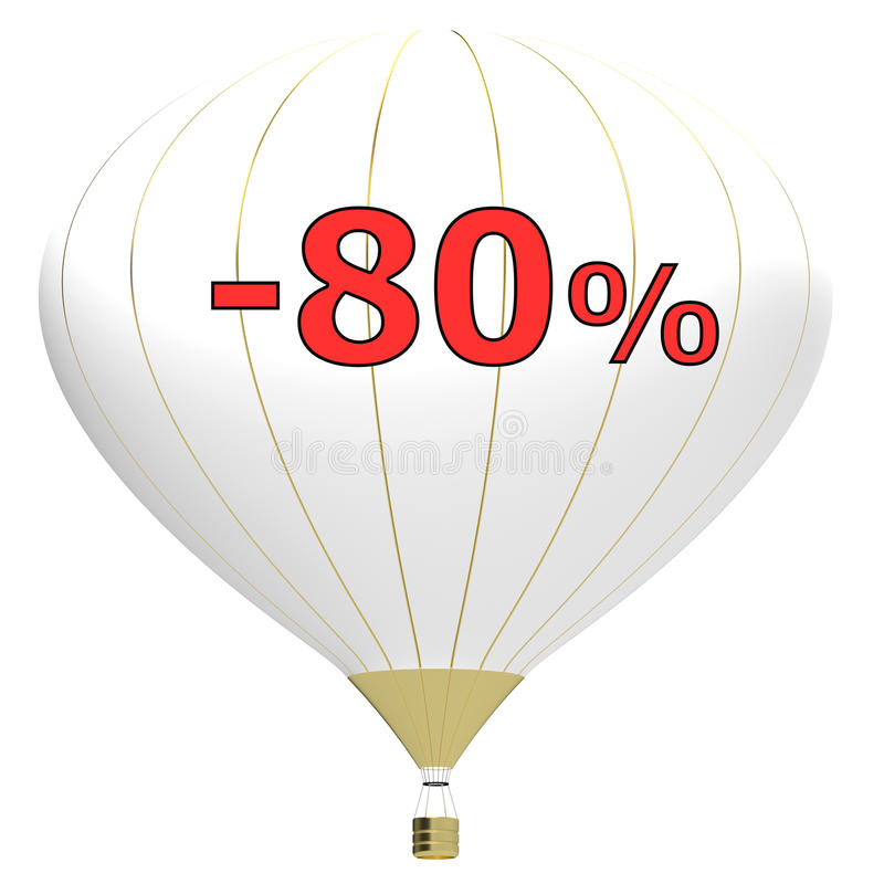 Sale poster concept with percent discount.3d illustration banner with air balloon. Design for banner, flyer and brochure for event. Promotion business or vector illustration