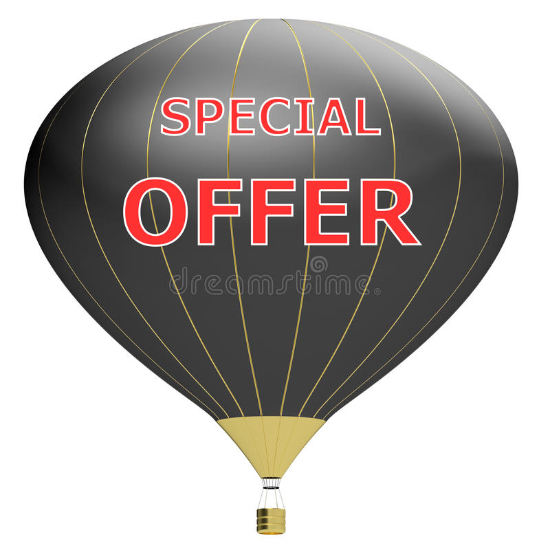 Sale poster concept with percent discount.3d illustration banner with air balloon. Design for banner, flyer and brochure for event. Promotion business or royalty free illustration