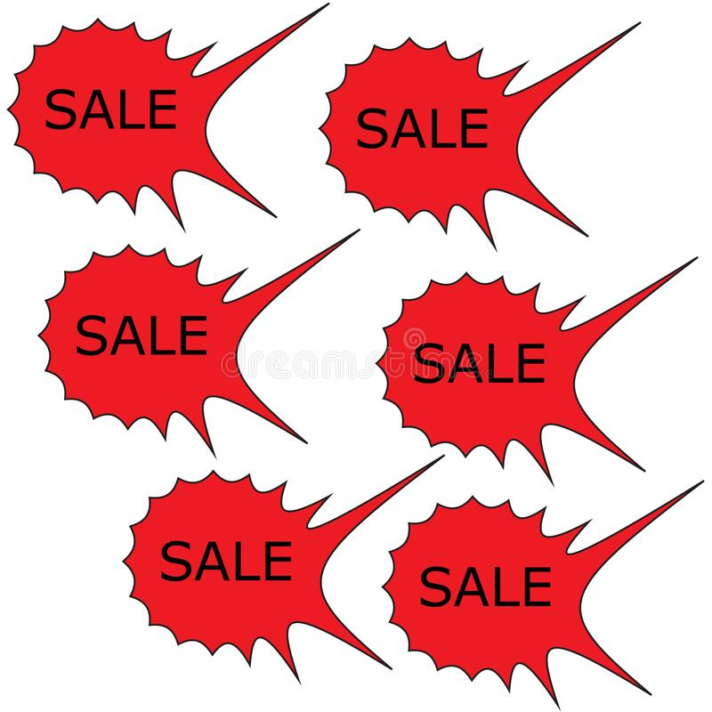 Sale poster concept with percent discount.Design for banner, flyer and brochure for event promotion business or department store. Isolated on white background vector illustration