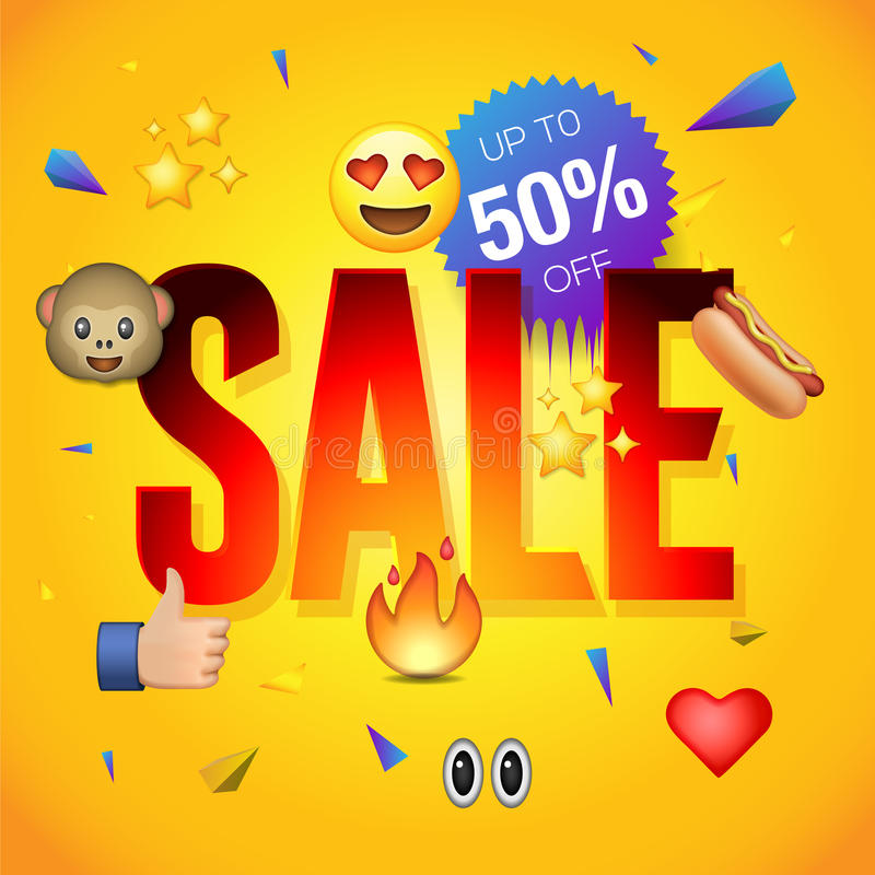Sale poster or flyer design on colorful background, use for online shopping and advertising. Vector illustration royalty free illustration