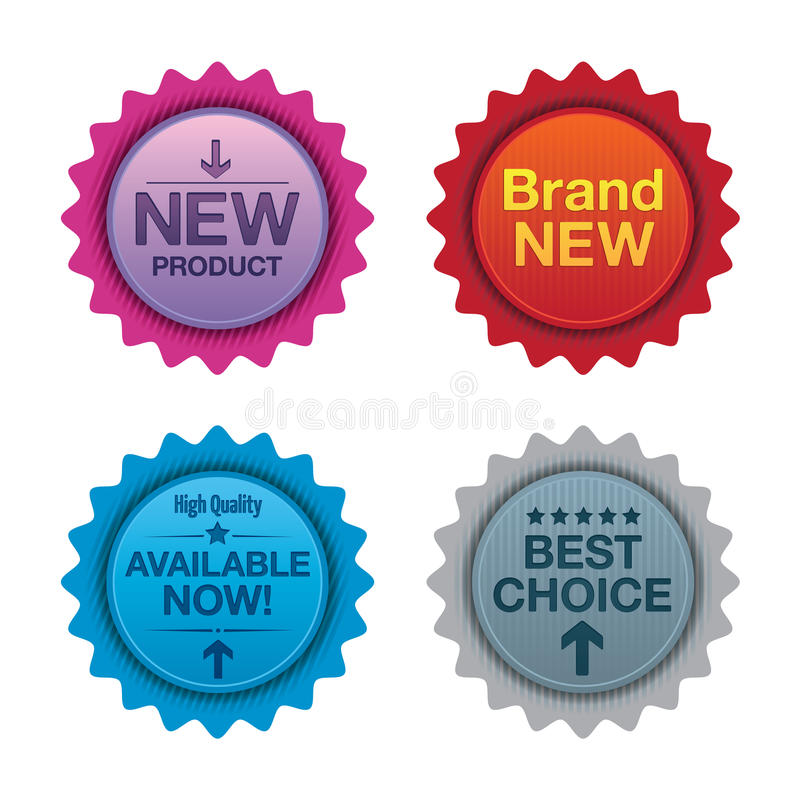 Sale promotion badges vector illustration