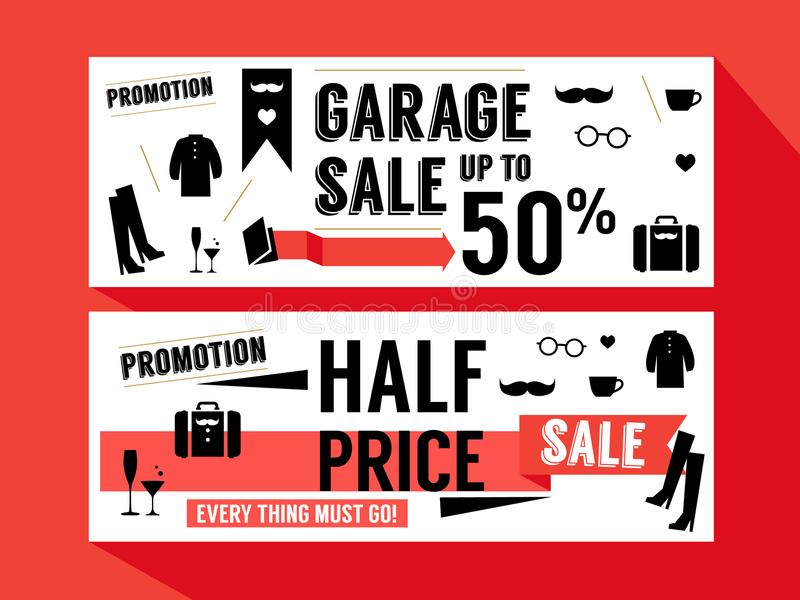 Sale Promotion discount Retail Website Lay out Banner stock photography