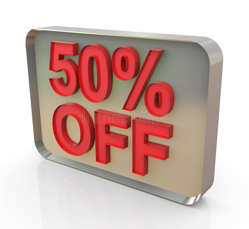 Sale promotion text 50% off vector illustration